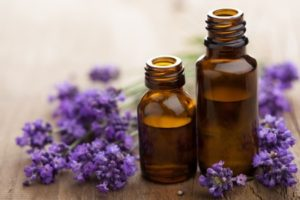 15163126 - essential oil and lavender flowers